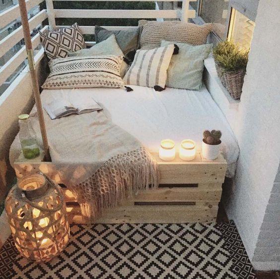 balkon-inrichten-bed