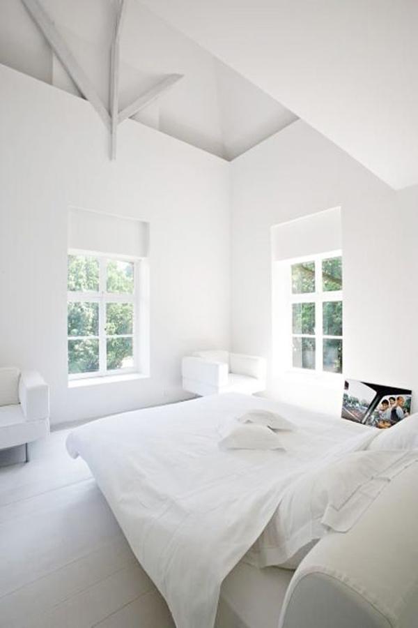 witte slaapkamer, Meubels Ideeën