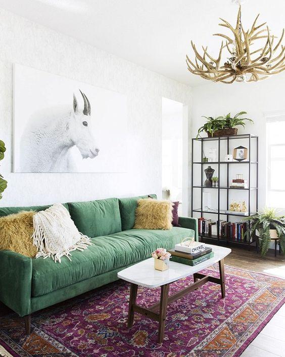 eclectisch-interieur-prints-groen