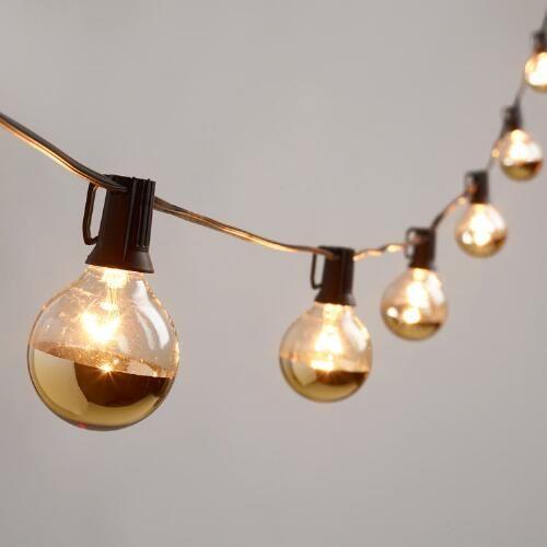 goud-dip-kerstmis-lampen