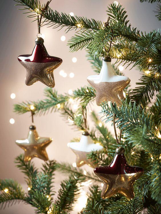 goud-dip-kerstmis-sterren