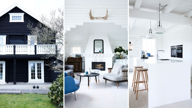 Houten huisjes liefde scandinavisch interieur thestylebox - Interieur houten huisje ...