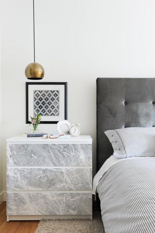 IKEA hack Malm ladekast beplakken