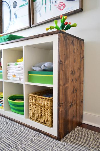 IKEA hacks Kallax houten ombouw