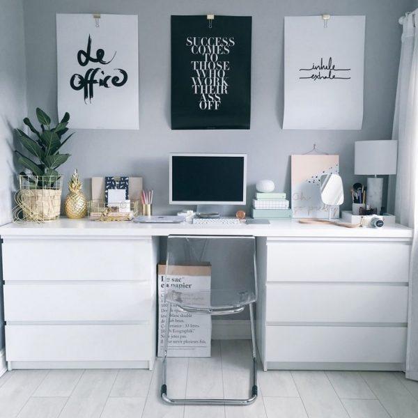 IKEA hacks MALM bureau
