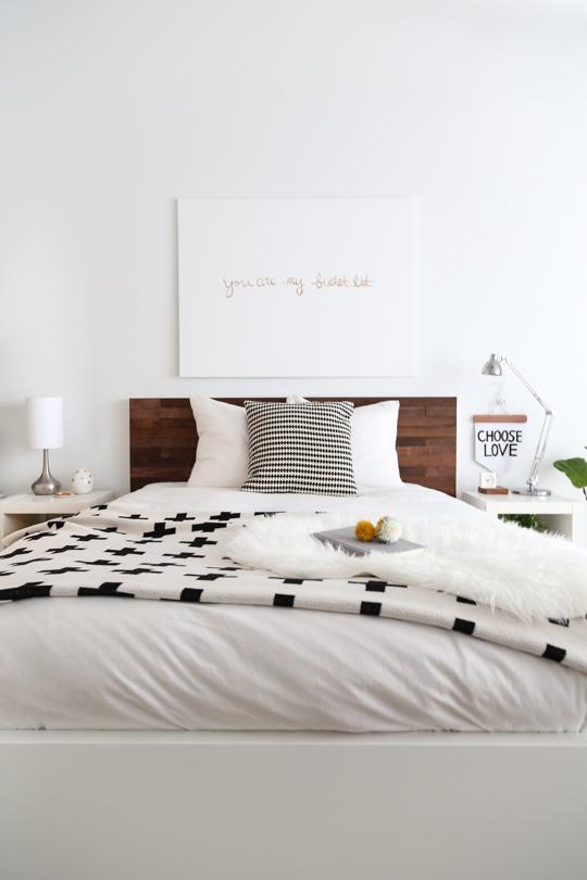 IKEA hacks Malm hoofdeinde hout