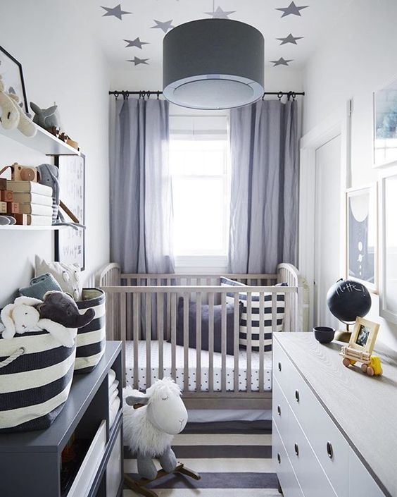 Een kleine babykamer thestylebox - Nursery ideas small spaces style ...