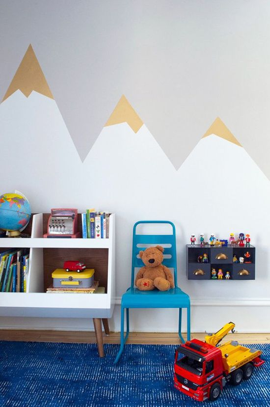 Een lambrisering schilderen in de kinderkamer thestylebox for Kid room wallpaper