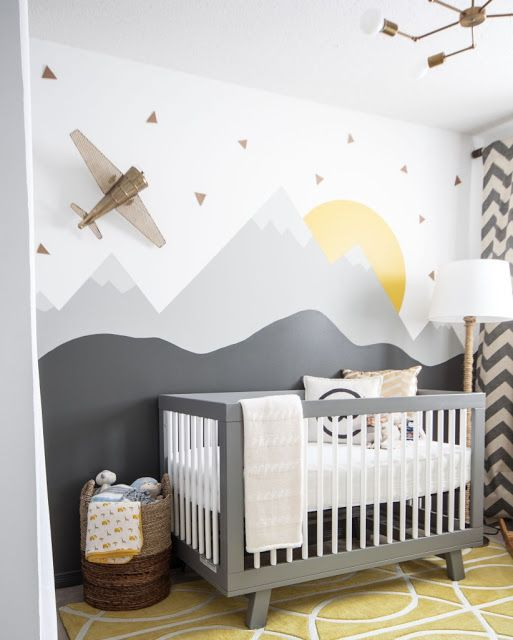 woodland themed nursery wallpaper