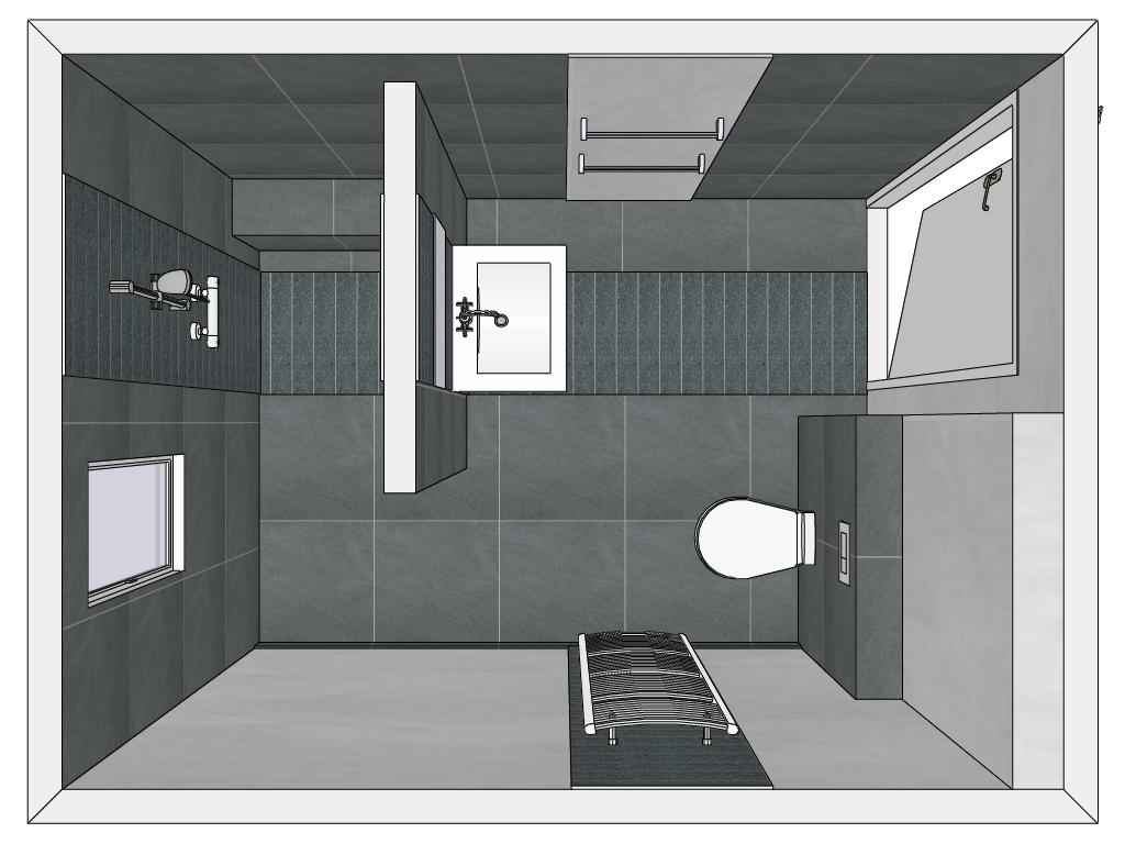Kleine badkamer ontwerpen met bad: ligbad kleine badkamer ...