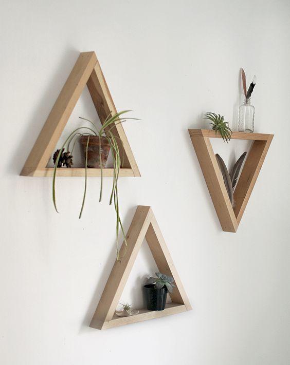 wanddecoratie-van-hout-driehoek
