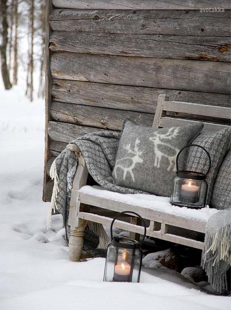 Wintertuin - Bankje-in-de-sneeuw