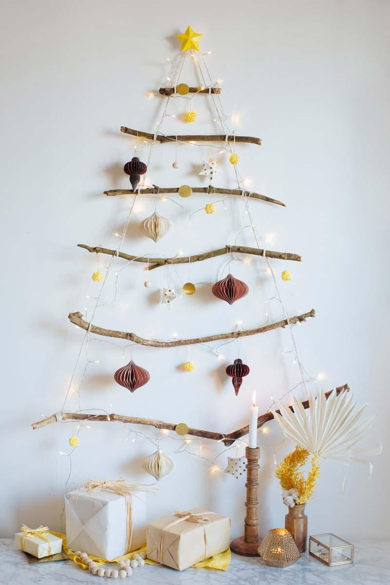 alternatieve kerstboom takken