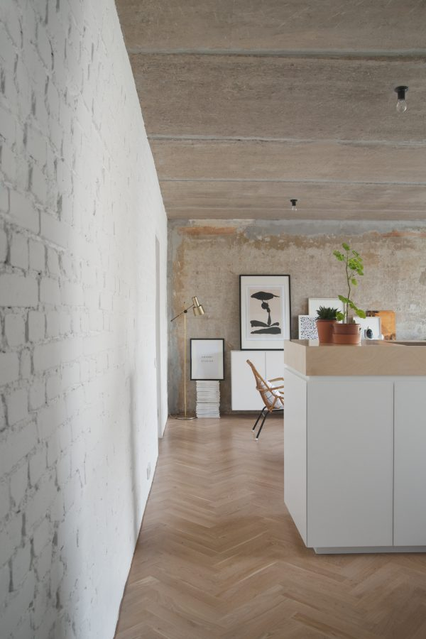 appartement beton wit