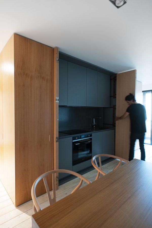appartement hout open keuken