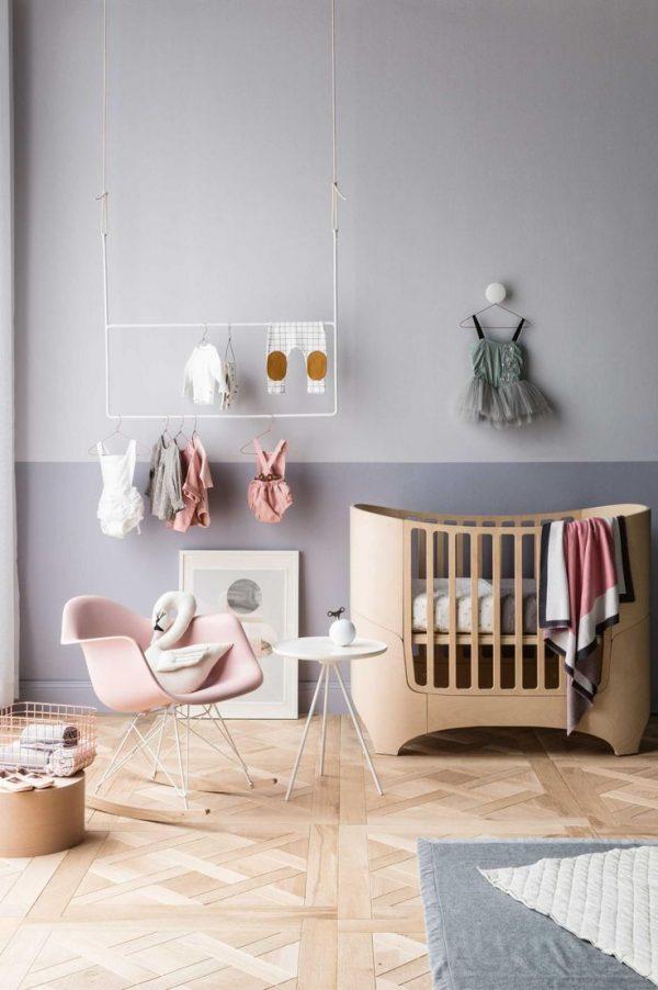 Babykamer meisje thestylebox - Muur kleur babykamer meisje ...