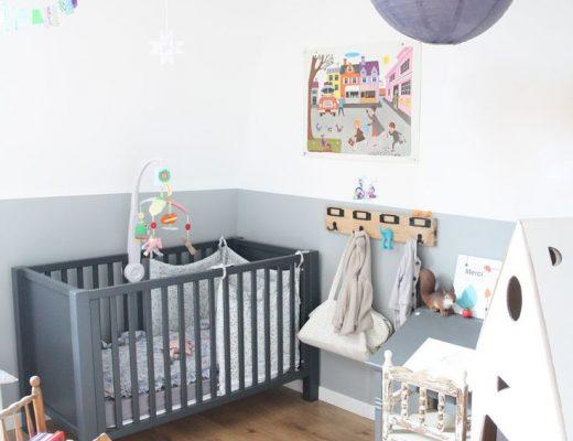 babykamer jongen grijs