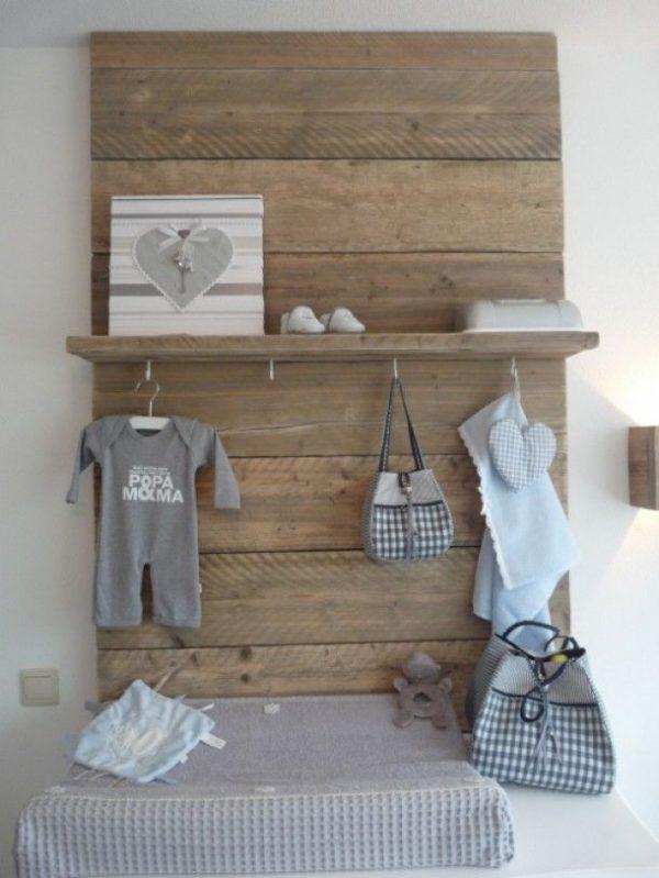 babykamer jongen steigerhout