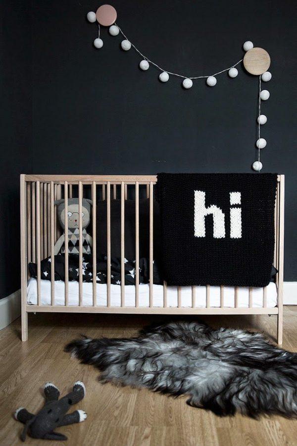 babykamer jongen zwart