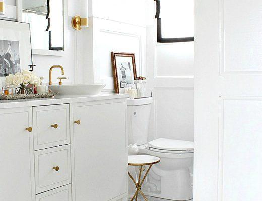 badkamer goud marmer