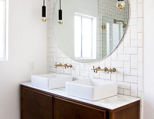 badkamer gouden details