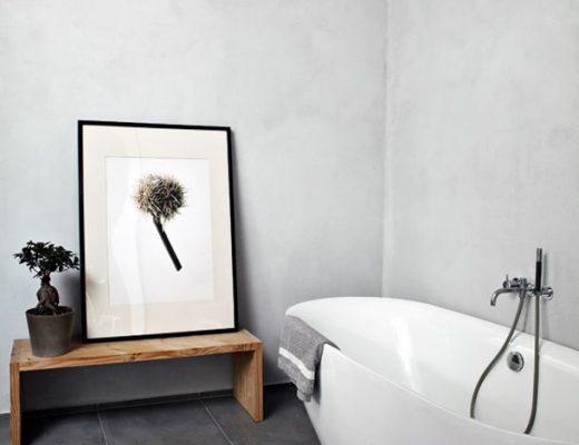 badkamer ideeën ingelijste print