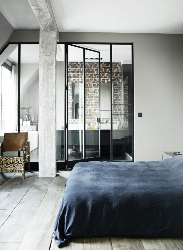 Badkamer en slaapkamer in n ruimte thestylebox for Slaapkamer met badkamer
