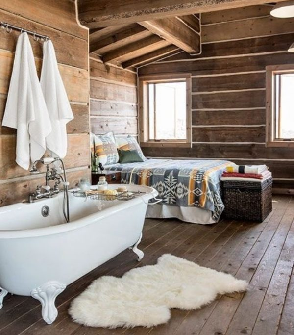 badkamer slaapkamer hout