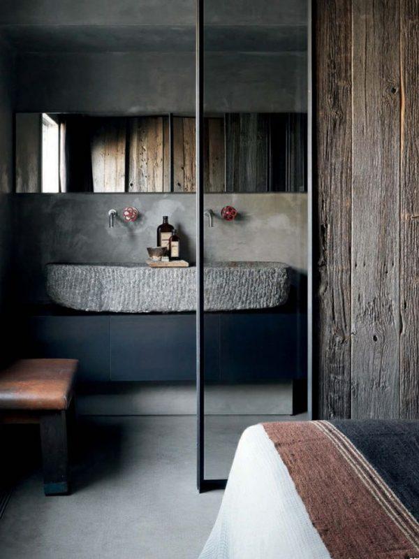 Slaapkamer En Badkamer In Een Ruimte : Badkamer slaapkamer robuust
