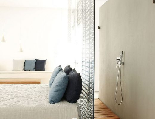 badkamer slaapkamer scheidingswand
