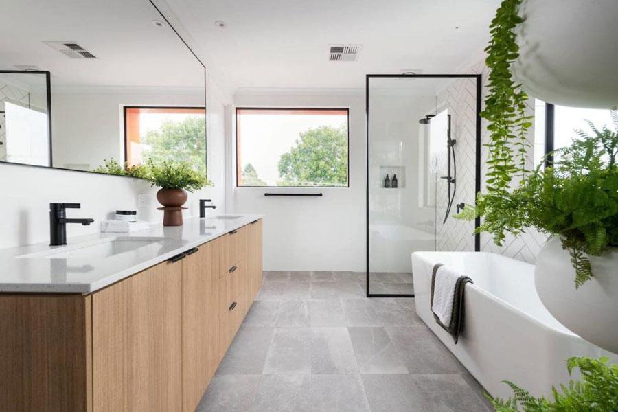 badkamers met inloopdouche open badkamer