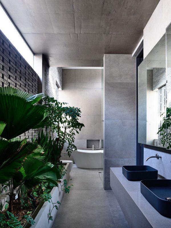 badkamers voorbeelden betonlook
