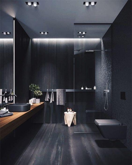 zwarte interieurs