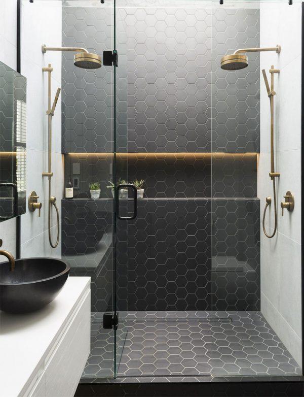 badkamers voorbeelden dubbele douche