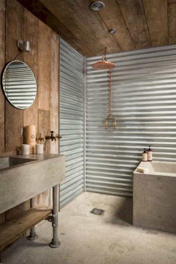 badkamers voorbeelden golfplaat