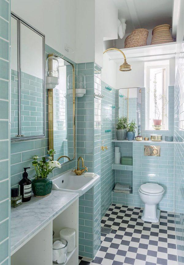 badkamers voorbeelden gouden details