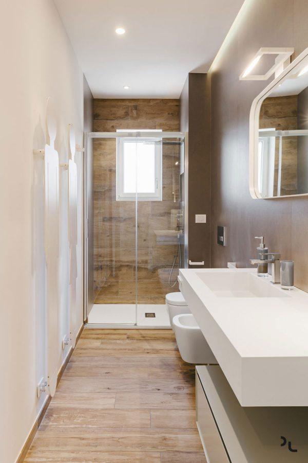 badkamers voorbeelden houtlooktegels