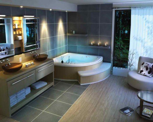 badkamers voorbeelden jacuzzi