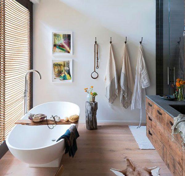 badkamers voorbeelden landelijke badkamer