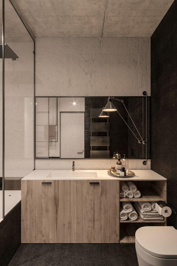 badkamers voorbeelden micro cement