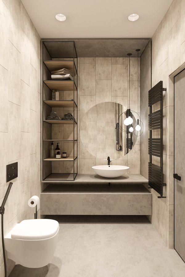 badkamers voorbeelden natuurlijke materialen maar strak