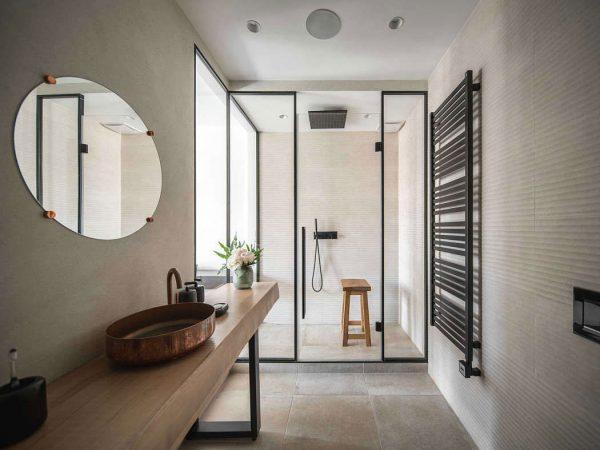 badkamers voorbeelden natuurlijke tinten