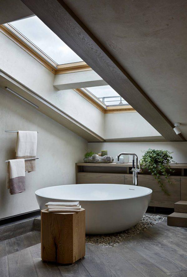 badkamers voorbeelden rond bad