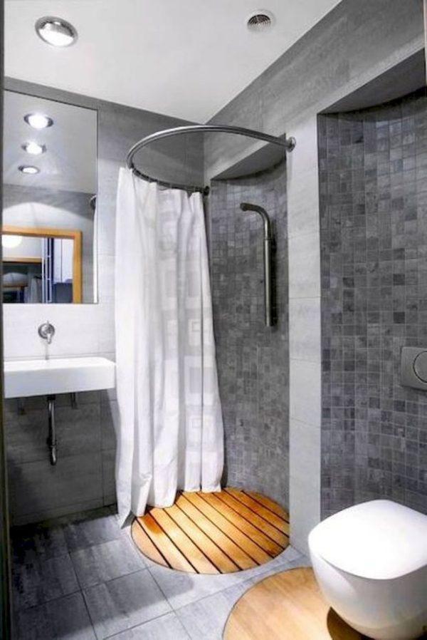 badkamers voorbeelden ronde douche