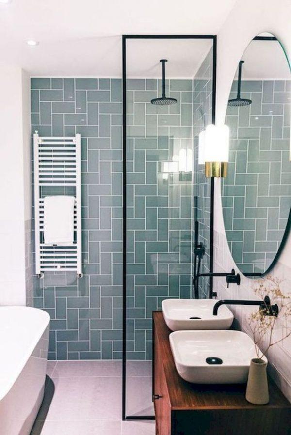 badkamers voorbeelden smalle douchewand