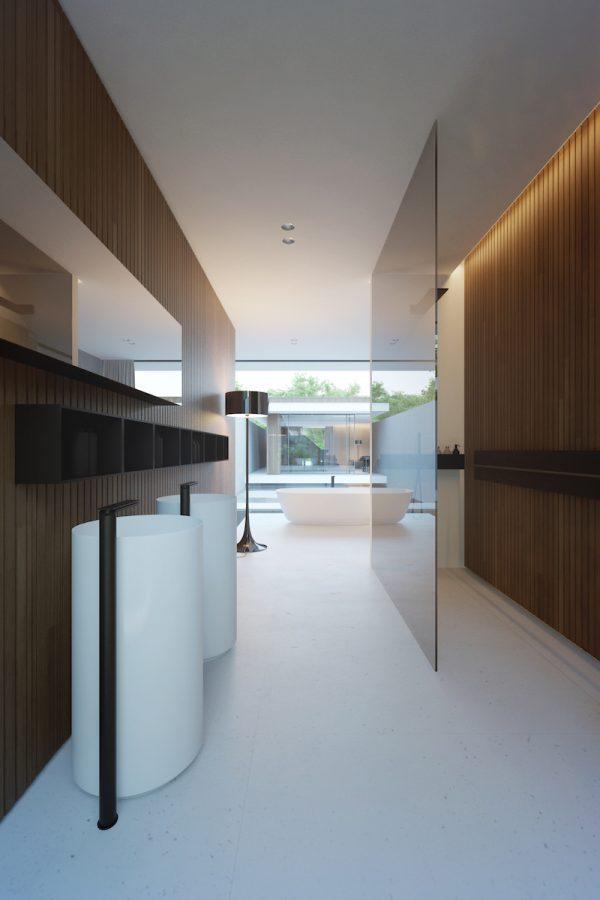badkamers voorbeelden strakke gietvloer