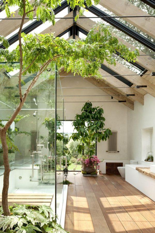 badkamers voorbeelden tuin in de badkamer
