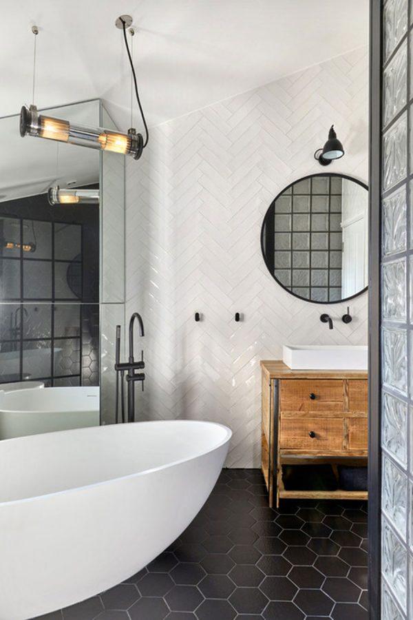 badkamers voorbeelden vintage details