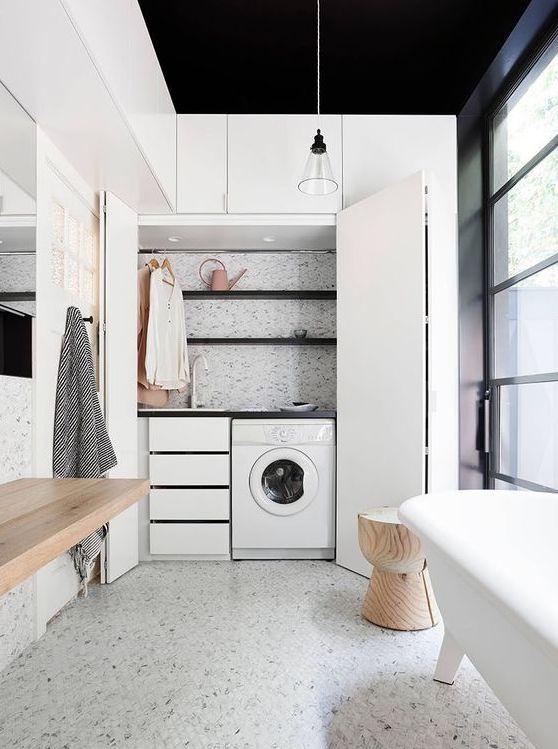 badkamers voorbeelden weggewerkte wasmachine 2