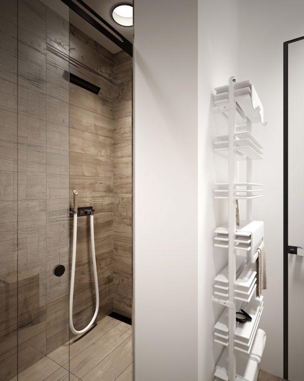 badkamers voorbeelden wit en hout